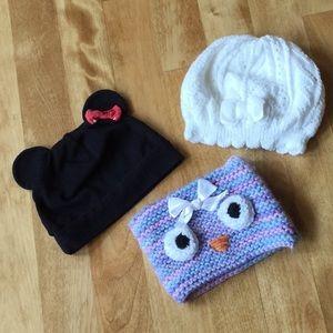 Cute baby hat bundle
